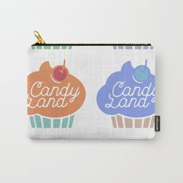 Vintage Cupcake Pattern Carry-All Pouch