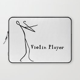Stick figure playing the violin Laptop Sleeve