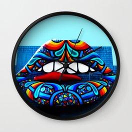 Rainbow Kiss Wall Clock
