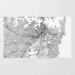 Sydney White Map Rug