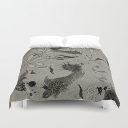 Lost. It's where she feels at ease. Duvet Cover