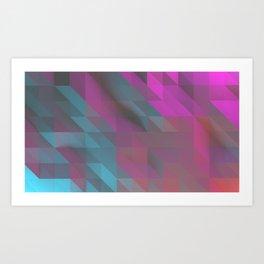 Tri Squares Art Print