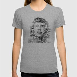Che Guevara Portrait in Words T-shirt