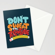 don't sweat the technique Stationery Cards