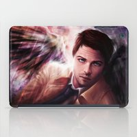 castiel iPad Cases featuring Castiel by jasric