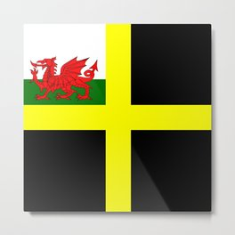 Flag of Saint David Metal Print