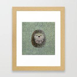 Cute Baby Hedgehog Framed Art Print