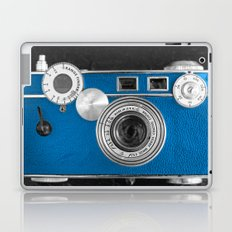 Dazzel blue Retro camera Laptop & iPad Skin