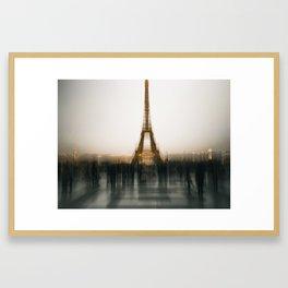 Eiffel Blur Framed Art Print
