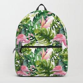 Flamingo Tropical || #pattern #tropical Backpack
