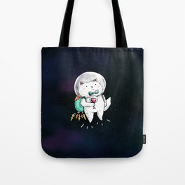 Space Kitty - Wine Time Tote Bag