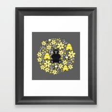 Bear and Bees Framed Art Print