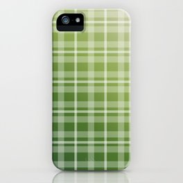 Olive Green Stripes iPhone Case