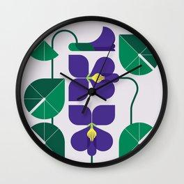 Blue Violet Wall Clock
