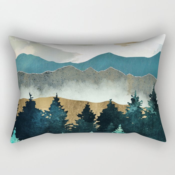 Forest Mist Rectangular Pillow