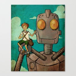 A Boy and his Iron Giant Canvas Print