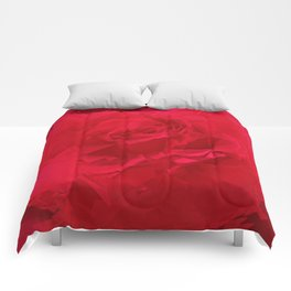 Bloomed Rose Profound Red Comforters