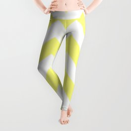 Butter Yellow Chevron Leggings
