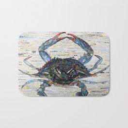 Blue Crab Collage by C.E. White Marine Life Bath Mat