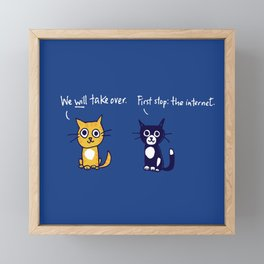 Cats and the internet Framed Mini Art Print