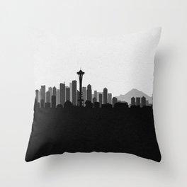 City Skylines: Seattle (Alternative) Throw Pillow