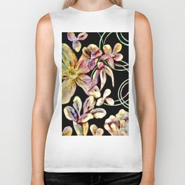 Colorful Flower Wall Biker Tank