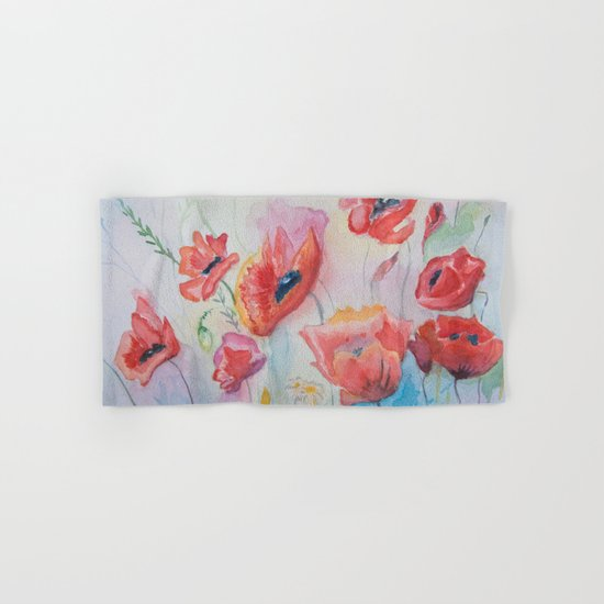 field of poppies Hand & Bath Towel