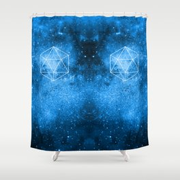 d20 Icosahedron Crystal Wind Shower Curtain
