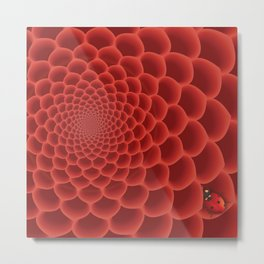 Close up red flower Metal Print