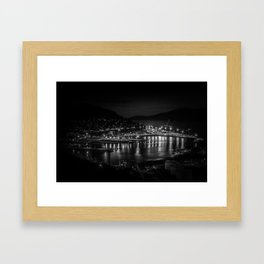 Lyttelton Port at night Framed Art Print