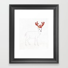 Autumn Deer Framed Art Print