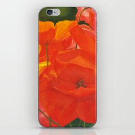 Colourful Summer Poppies iPhone Skin