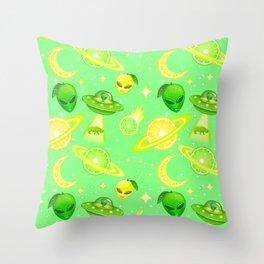 Citrus Space Throw Pillow