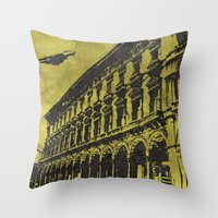 milan Throw Pillows featuring Milan 1 by Anand Brai