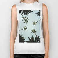 palm trees Biker Tanks featuring Palm trees by chitoteno