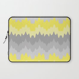 Yellow Grey Gray Ombre Chevron Abstract Zigzag Laptop Sleeve
