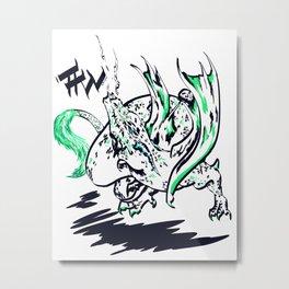 Calligraphy Dragon Metal Print
