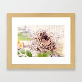 Heart Nest* Framed Art Print