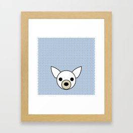 Pop Dog Chihuahua Framed Art Print