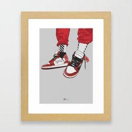 Off White Jordan 1 Framed Art Print