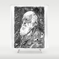 darwin Shower Curtains featuring 'Darwin' by Sarah King by We Are West Coast