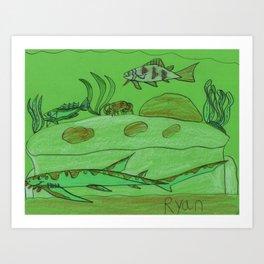 Rocky Overhang Art Print