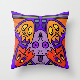 Ghost friends from AkA Corp Throw Pillow