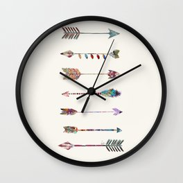 seven arrows Wall Clock