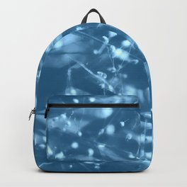 Blue Botanical Backpack