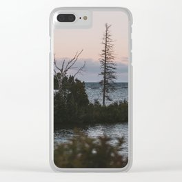 The View From Copper Harbor Clear iPhone Case