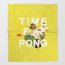 Time For Pong Throw Blanket