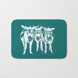 Seaside Donkeys in Turquoise Bath Mat