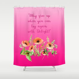 Get Pinky With Poppy Shower Curtain