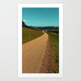Country road into some autumn scenery | landscape photography Art Print
